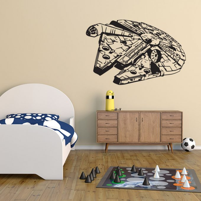 Millennium Falcon Spaceship Han Solo Star Wars Disney Wall Art Sticker Decal Vinyl Home Room5