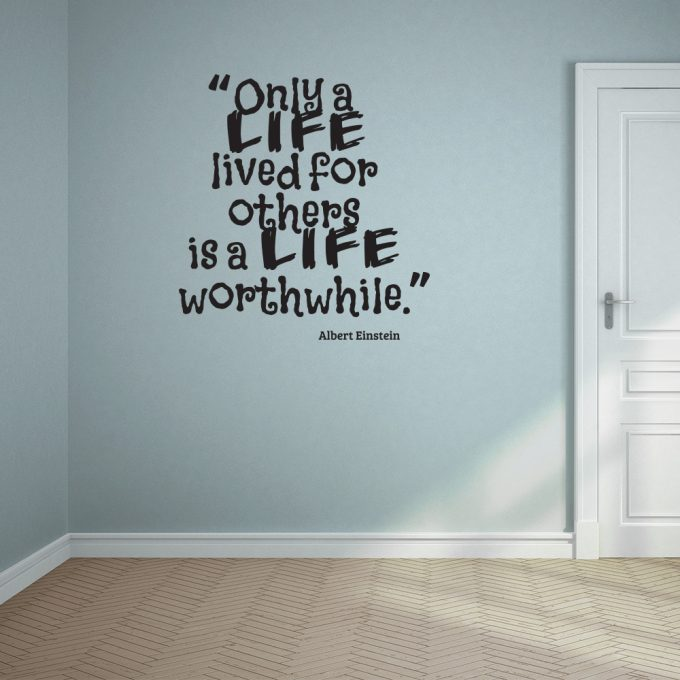 Albert Einstein Quote Live Life for Others